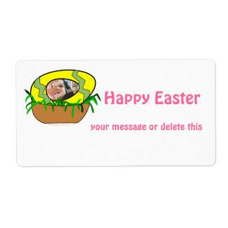 Custom Photo Easter Egg in Nest Template Custom Shipping Labels