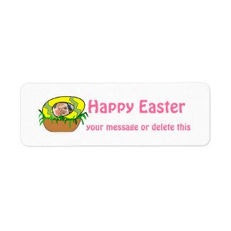 Custom Photo Easter Egg in Nest Template Return Address Labels