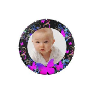Custom photo/Elegant Butterfly  frame Candy Tins
