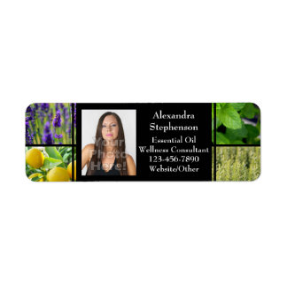 Custom Photo Essential Oil Business Bottle Contact Label