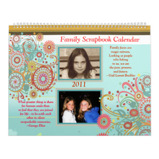 Custom Photo Family Scrapbook Calendar - Huge