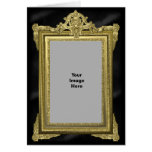 Custom Photo Fancy Gold Frame Card