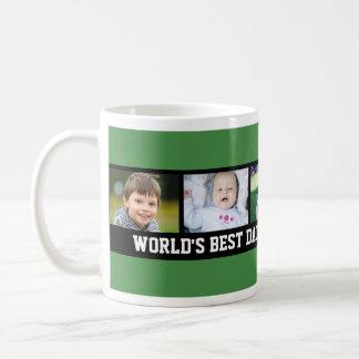 Custom Photo Father's Day Mug Green