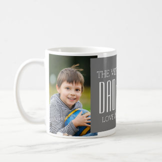 Custom Photo Father's Day Mug Grey