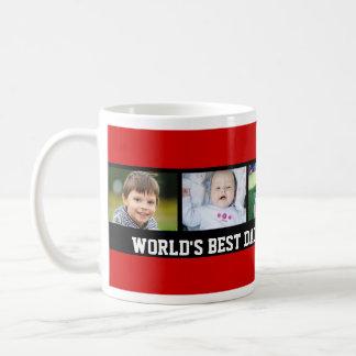 Custom Photo Father's Day Mug Red