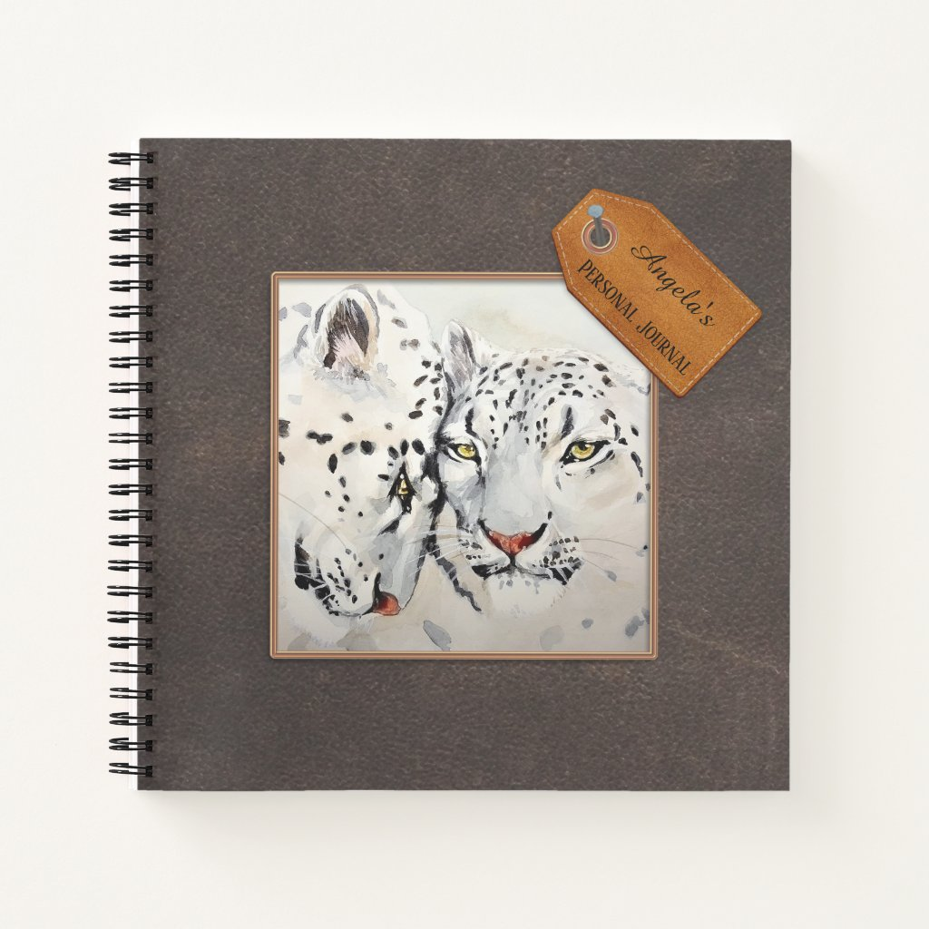 Custom Photo Faux Leather Personal Notebook