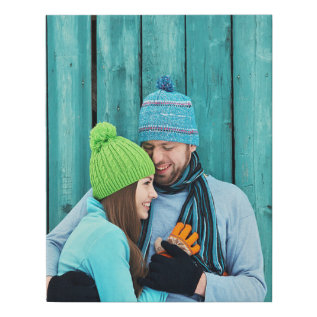 Custom Photo | Faux Wrapped Canvas Print at Zazzle