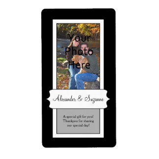 Custom Photo Favor Craft Label