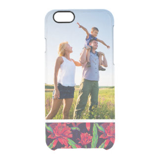 Custom Photo Flowers And Hummingbirds Clear iPhone 6/6S Case