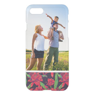 Custom Photo Flowers And Hummingbirds iPhone 7 Case