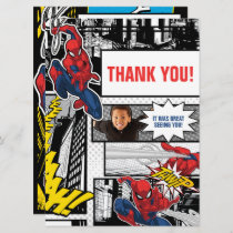 Custom Photo Frame Spider-Man Thank You Card