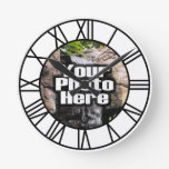 Custom Photo Full Color Clock Roman Numerals