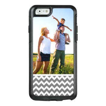 Custom Photo Geometric Zigzag Pattern Otterbox Iphone 6/6s Case by boutiquey at Zazzle