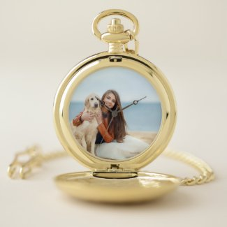 Custom Photo Gold or Silver Alloy Pocket Watch