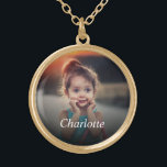 "Custom Photo Gold Plated Necklace<br><div class=""desc"">Create your own personalized necklace pendant with your custom image. Add your favorite photo, design or artwork to create something really unique. To edit this design template, click 'Change' and upload your own image as shown above. Click 'Customize It' button to add text, customize fonts and colors. Treat yourself or...</div>"