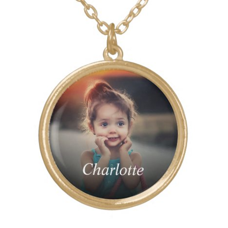 Custom Photo Gold Plated Necklace