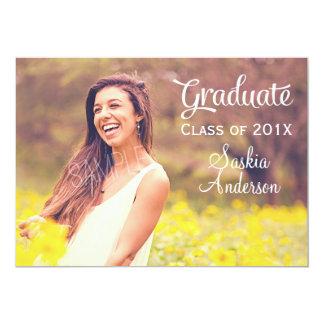 Custom Photo Graduation Announcement