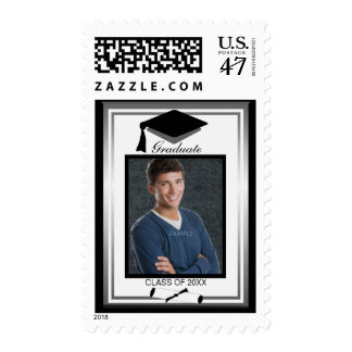 Custom Photo Graduation Diploma Personalized Date Postage Stamp