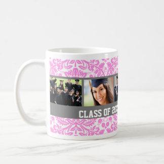 Custom Photo Graduation Mug Pink Grey