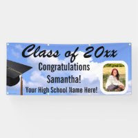 Custom Photo Graduation Outdoor Sky Yard Banner
