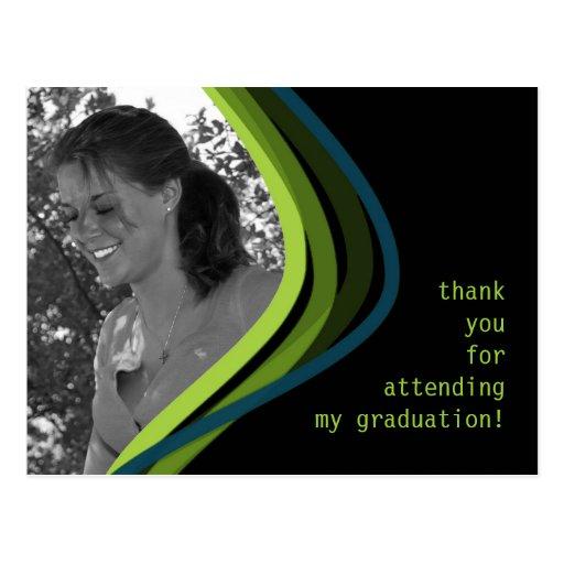 Custom Photo Graduation Thank You Card Postcard
