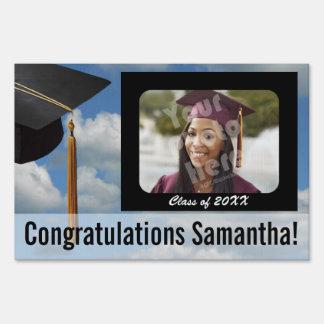 Custom Photo Graduation Yard Sign, Blue Sky Sign