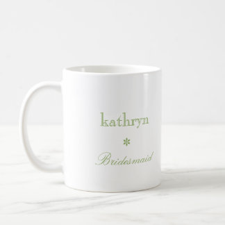 Custom photo green argyle preppy bridesmaid coffee classic white coffee mug