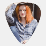Custom Photo Guitar Pick<br><div class='desc'>Great guitar pick with two separate photo templates,  one for the front and another for the back,  so you can have your two favorite photographs on one guitar pick.  Makes a really great gift idea.</div>