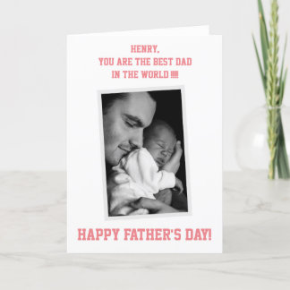 Custom PHOTO Happy Fathers Day Cards