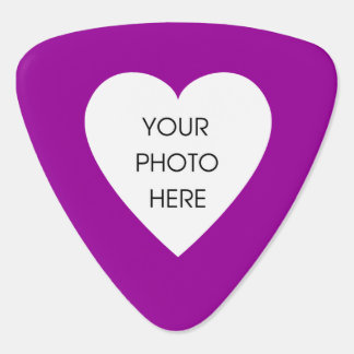 Custom Photo Heart (Pink and Black) Guitar Pick