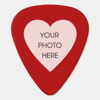 Custom Photo Heart (Red and Black) Guitar Pick