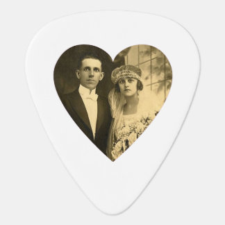 Custom Photo Heart (White) Guitar Pick