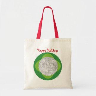Custom Photo Holiday Christmas Tote Bag