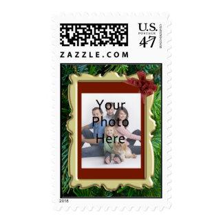 Custom Photo Holiday Postage Stamp