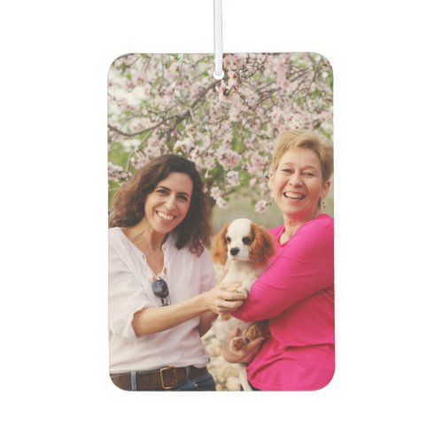 Custom Photo Home is Where Your Mom is Green Wood Air Freshener