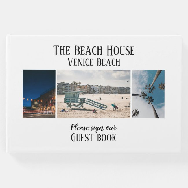 Custom Photo Hotel Vacation House Guest Book