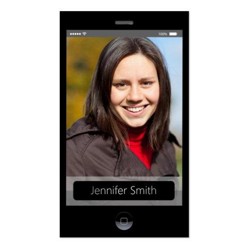 Custom Photo - iPhone iOS Style Business Card Template