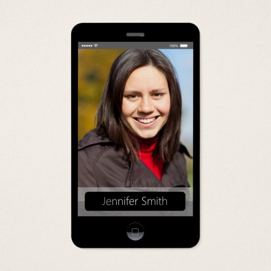 Custom Photo - iPhone iOS Style Business Card