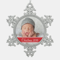 Custom Photo Keepsake Holiday Ornament