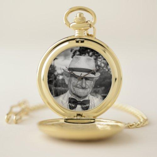 Custom Photo Keepsake Pocket Watch