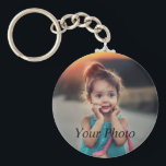 "Custom Photo Keychain<br><div class=""desc"">Create your own personalized basic button keychain with your custom image. Add your favorite photo, design or artwork to create something really unique. To edit this design template, click 'Change' and upload your own image as shown above. Click 'Customize It' button to add text, customize fonts and colors. Treat yourself...</div>"