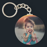 "Custom Photo Keychain<br><div class=""desc"">Create your own personalized basic button keychain with your custom image. Add your favorite photo, design or artwork to create something really unique. To edit this design template, click"