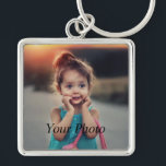 "Custom Photo Keychain<br><div class=""desc"">Create your own personalized large premium square keychain with your custom image. Add your favorite photo, design or artwork to create something really unique. To edit this design template, click &#39;Change&#39; and upload your own image as shown above. Click &#39;Customize It&#39; button to add text, customize fonts and colors. Treat...</div>"
