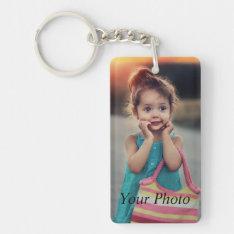 Custom Photo Keychain at Zazzle