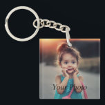 """Custom Photo Keychain<br><div class=""""desc"""">Create your own personalized keychain with your custom image. Add your favorite photo, design or artwork to create something really unique. To edit this design template, click &#39;Change&#39; and upload your own image as shown above. Click &#39;Customize It&#39; button to add text, customize fonts and colors. Treat yourself or make...</div>"""