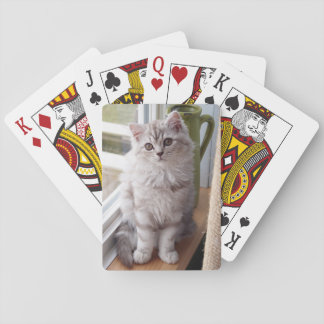 Custom Photo Kitten Playing Cards