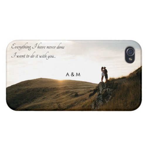 Custom Photo Love Quote iPhone Case