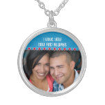 Custom Photo Medium Silver Plated Necklace