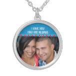 Custom Photo Medium Silver Plated Necklace