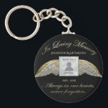 """Custom Photo Memorial In Loving Memory Keychain<br><div class=""""desc"""">Add a photo,  name and dates to make a cherished keepsake.</div>"""